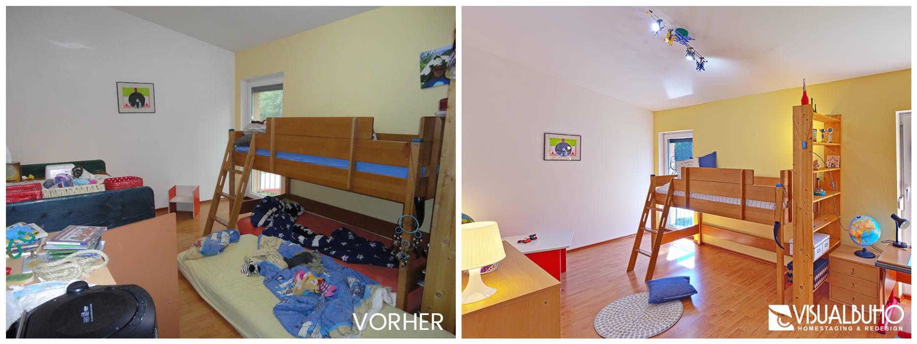 Vorher Nachher Kinderzimmer Kinderzimmer Von Visual Buho