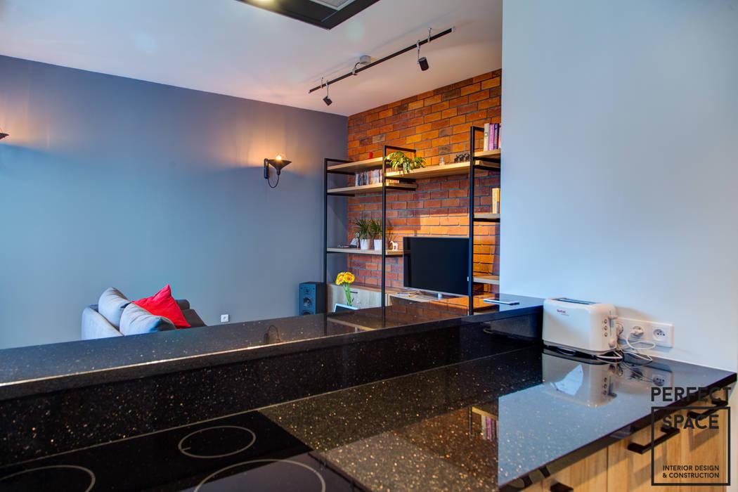 Pół loft Perfect Space Industrialny salon