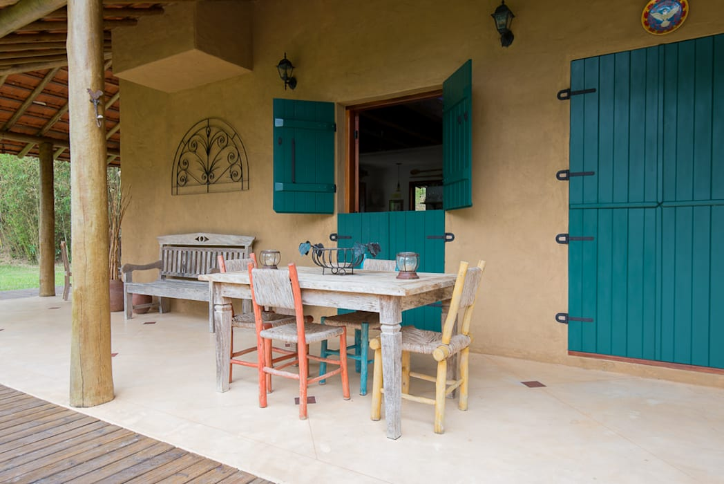 Casas de estilo  de Valquiria Leite Arquitetura e Urbanismo, Rústico
