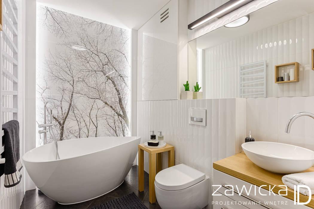 ห้องน้ำ โดย ZAWICKA-ID Projektowanie wnętrz,