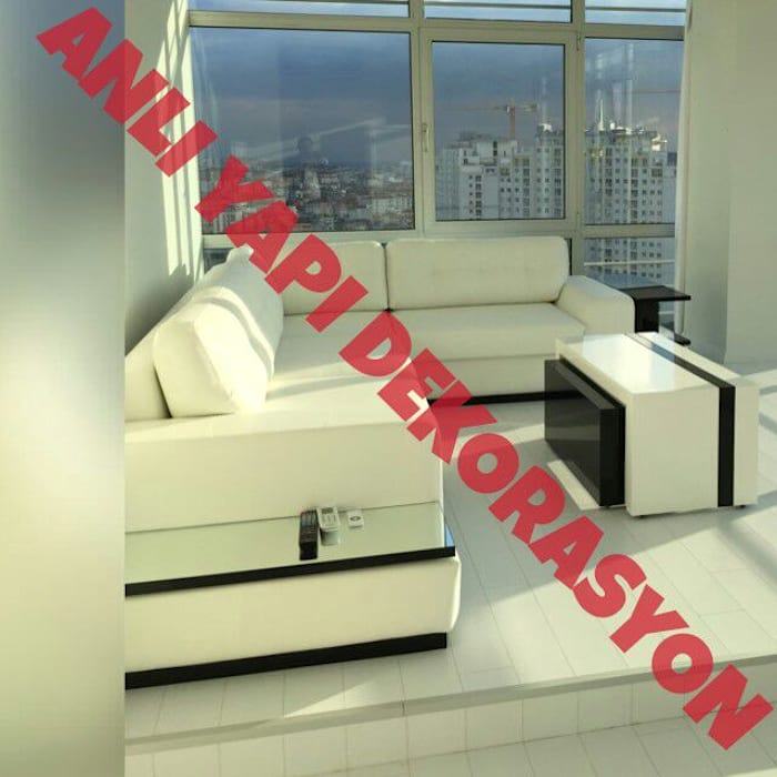 anlı yapı dekorasyon anlı yapı dekorasyon Oturma OdasıAksesuarlar & Dekorasyon Deri Beyaz