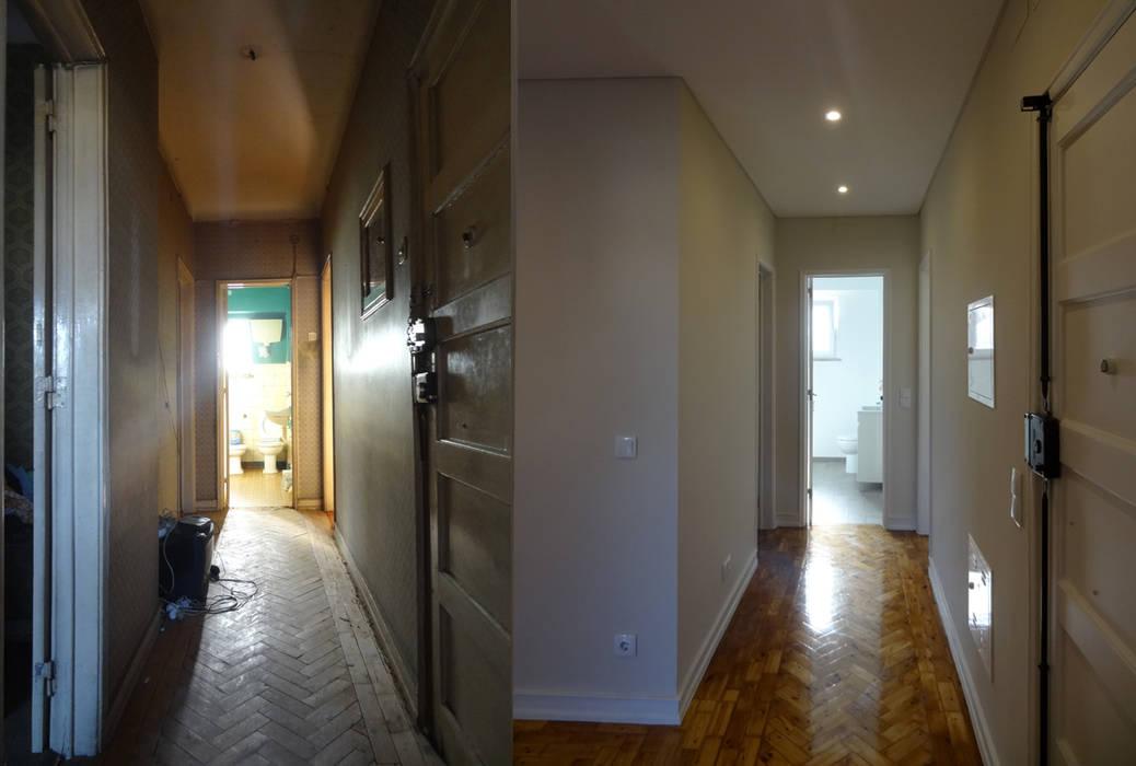 Hành lang, sảnh & cầu thang phong cách hiện đại bởi Happy Ideas At Home - Arquitetura e Remodelação de Interiores Hiện đại