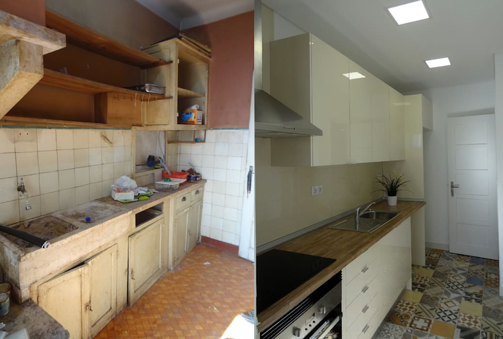 مطبخ تنفيذ Happy Ideas At Home - Arquitetura e Remodelação de Interiores