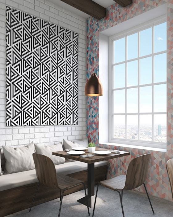 Abstract triangles Modern Walls and Floors by Pixers Modern