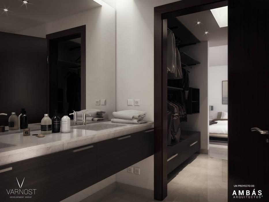 Baño y Vestidor: Baños de estilo  por Ambás Arquitectos