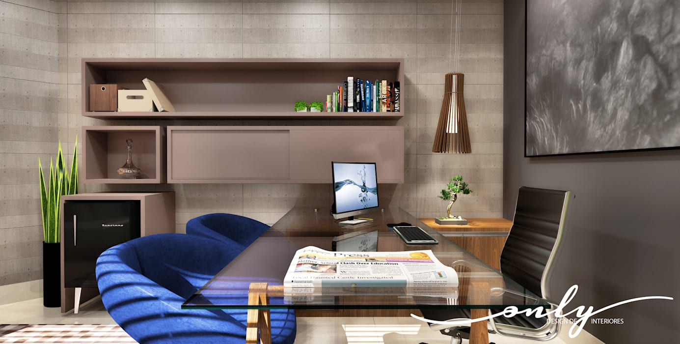 modern Study/office by Only Design de Interiores