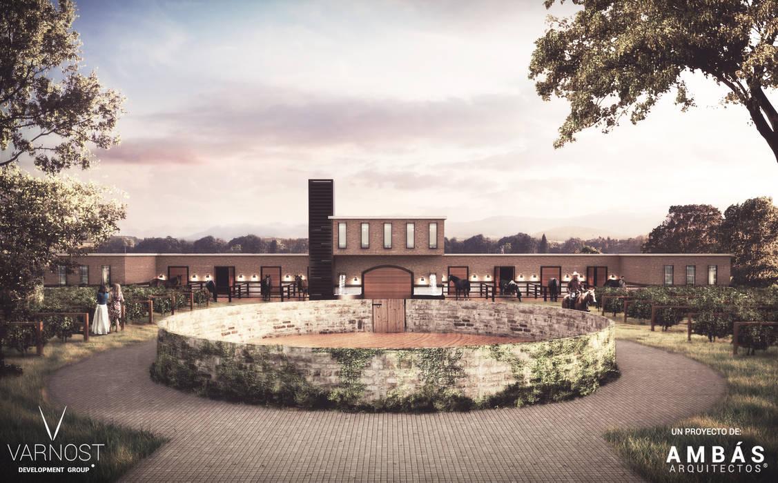 Fachada Principal: Jardines de estilo moderno por Ambás Arquitectos