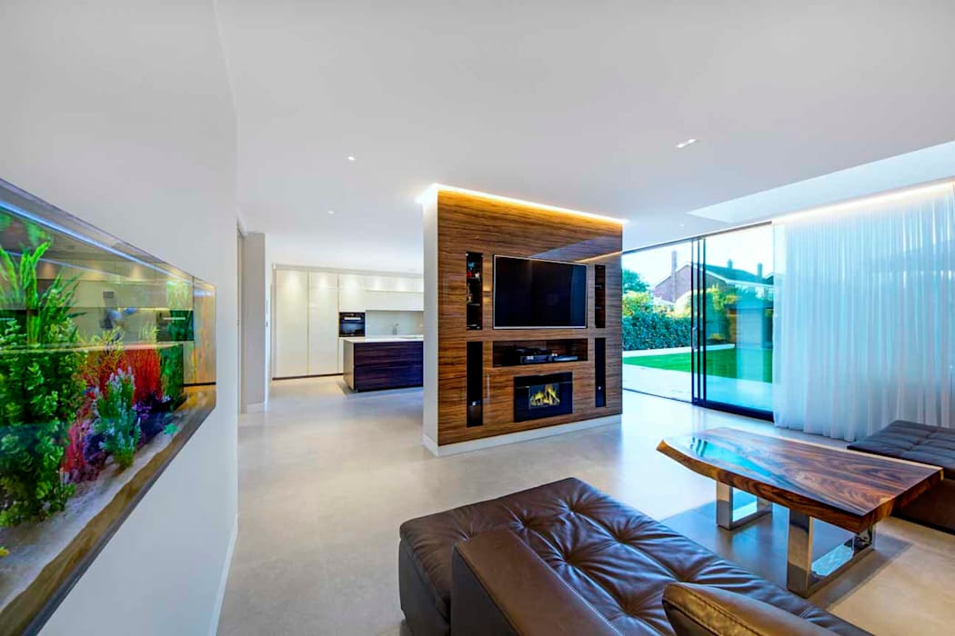 Hadley Wood - North London:  Living room by New Images Architects, Modern