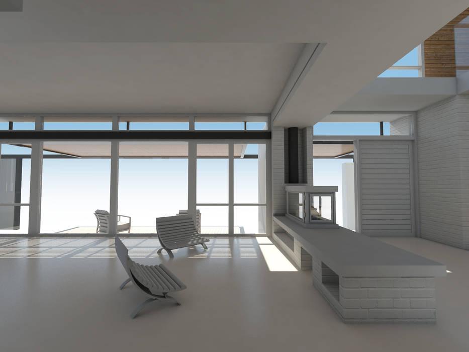 Estar / Acceso: Livings de estilo  por 1.61 Arquitectos,Mediterráneo