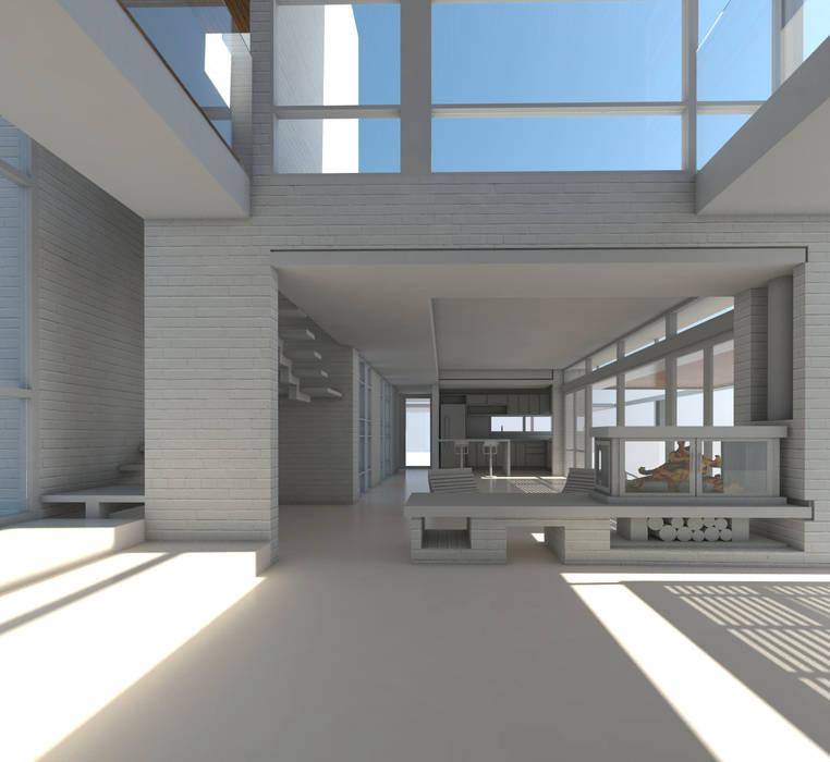 Hall de Acceso. : Pasillos y recibidores de estilo  por 1.61 Arquitectos