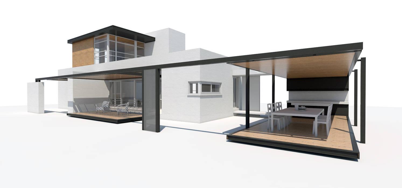 Fachada Norte / Oeste: Casas unifamiliares de estilo  por 1.61 Arquitectos