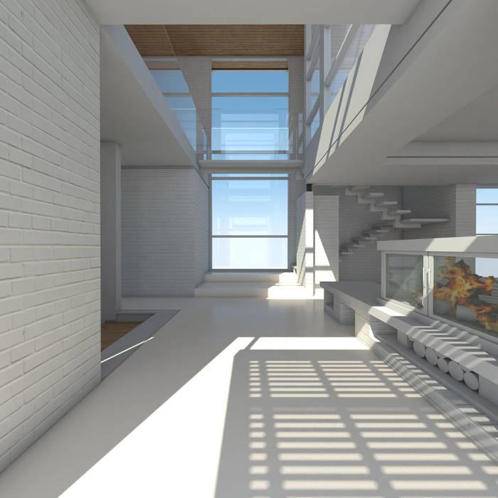 Hall de acceso: Pasillos y recibidores de estilo  por 1.61 Arquitectos