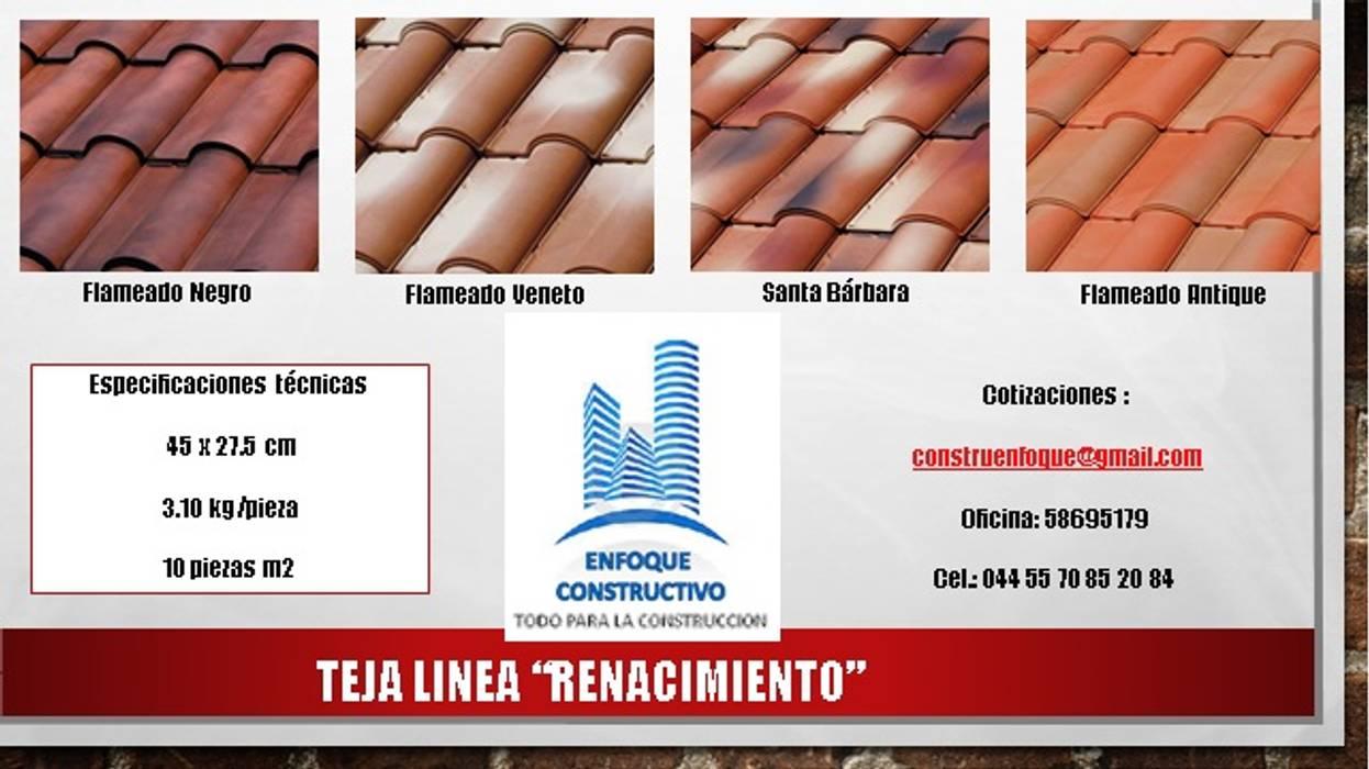 TEJA RENACIMIENTO: Casas de estilo  por ENFOQUE CONSTRUCTIVO