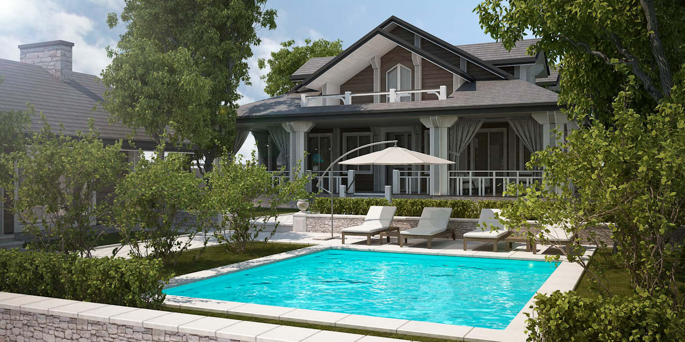 Проект дома в классическом стиле: Дома в . Автор – Way-Project Architecture & Design, Классический