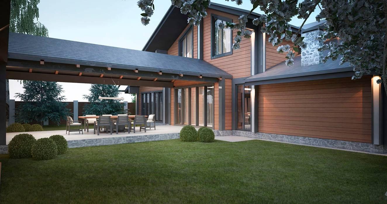 Проект дома в стиле шале Балкон и терраса в классическом стиле от Way-Project Architecture & Design Классический