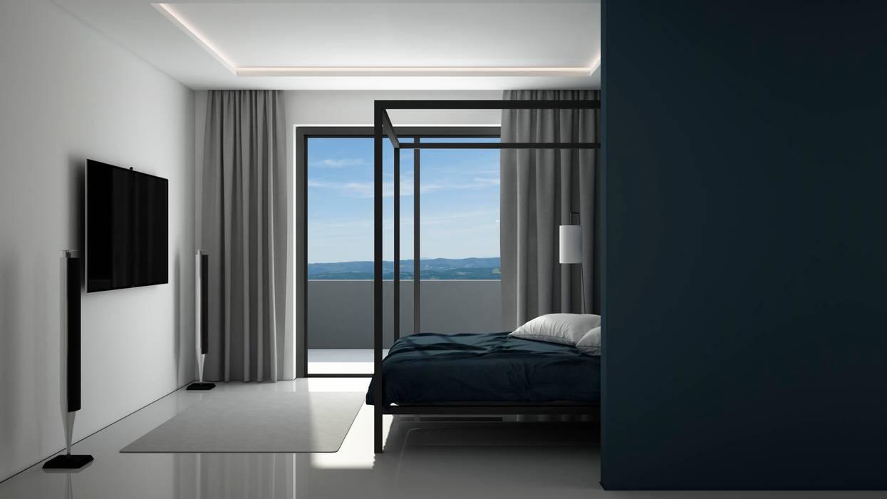 Дизайн интерьера квартиры в стиле минимализм Спальня в стиле минимализм от Way-Project Architecture & Design Минимализм