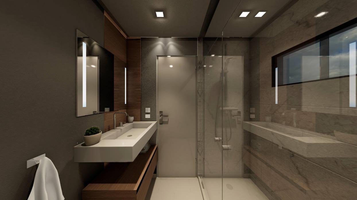 Nowoczesna łazienka od NOGARQ C.A. Nowoczesny