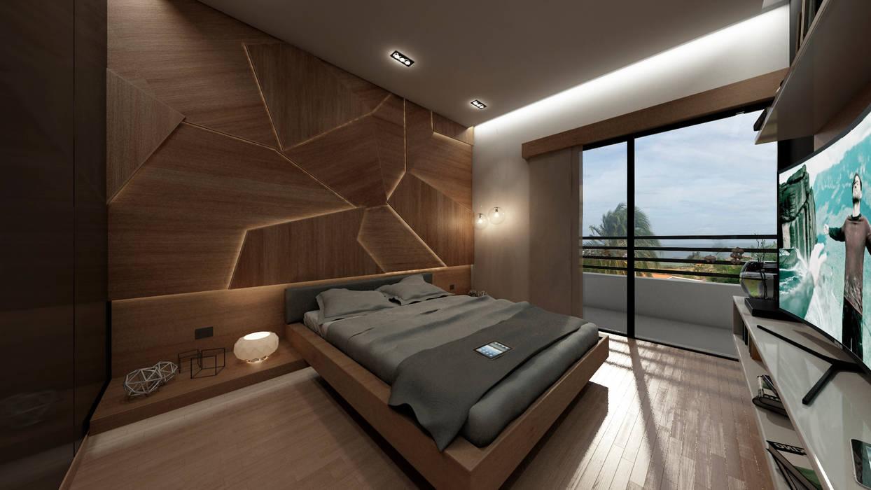 Спальни в . Автор – NOGARQ C.A., Модерн