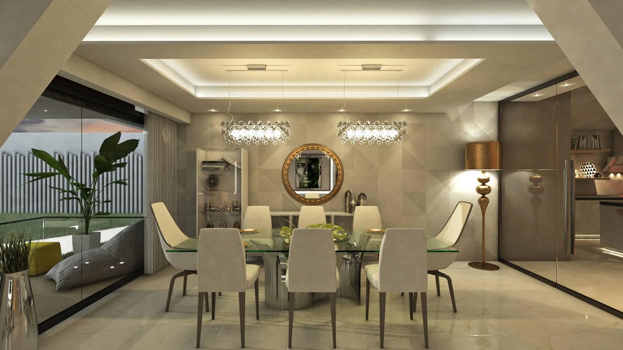 Villa Arellano: Comedores de estilo  por NOGARQ C.A.
