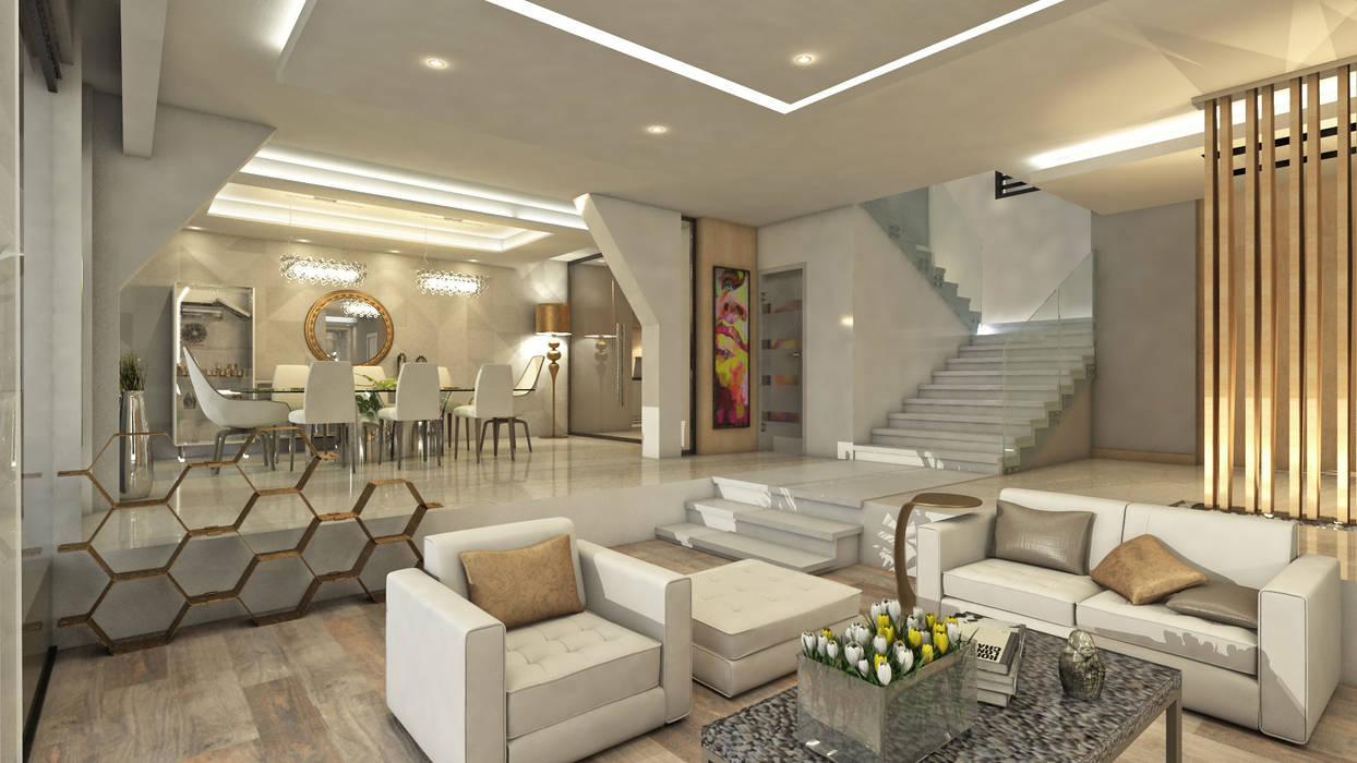 Villa Arellano: Salas / recibidores de estilo  por NOGARQ C.A.,