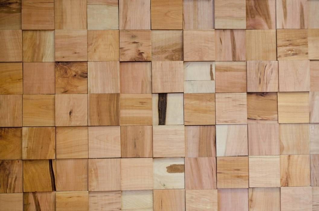 Revestimiento en Lenga Ignisterra S.A. Paredes y pisos de estilo rústico Madera Acabado en madera