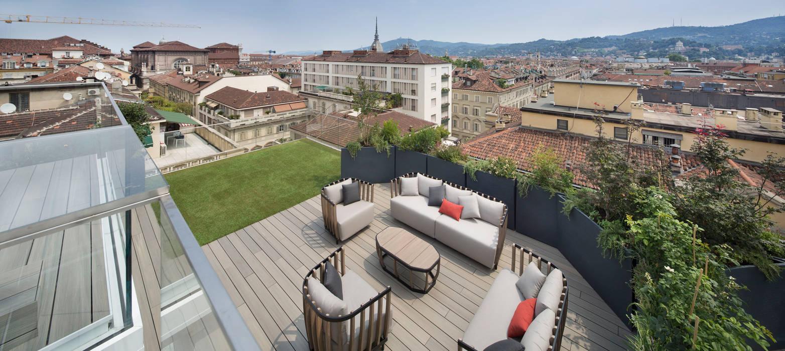 Déco per la residenza LAGRANGE12 a Torino: Terrazza in stile  di Déco