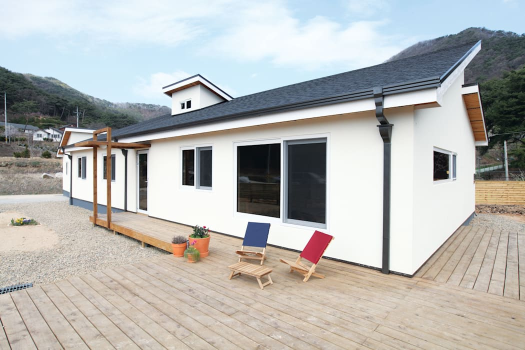 Maisons modernes par 춘건축 Moderne