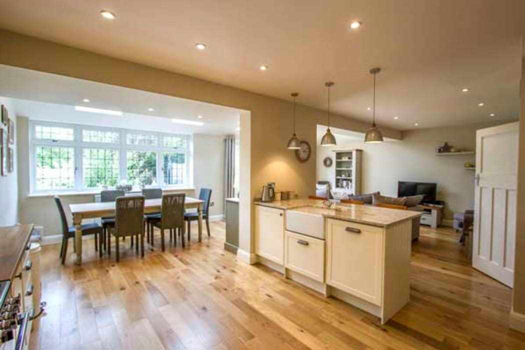 Extension, Loft Conversion & Complete Refurbishment – Kingston Cube Lofts Modern kitchen