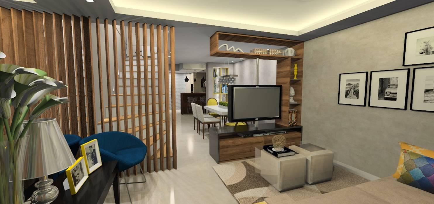 Salones de estilo moderno de Danielle Barbosa DECOR|DESIGN Moderno