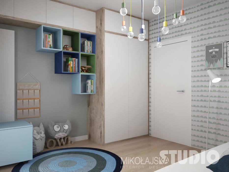 ห้องนอนเด็ก โดย MIKOŁAJSKAstudio , สแกนดิเนเวียน