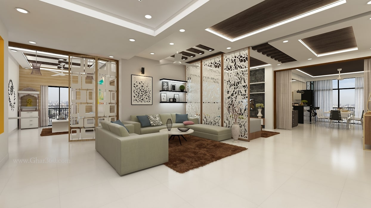 Drawing Room- Partition by Ghar360