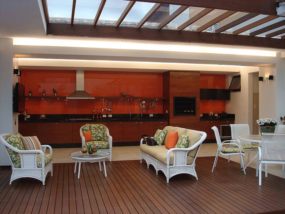 Area Lazer Residência GG, Uberlândia - Projeto THEROOM ARQUITETURA THEROOM ARQUITETURA E DESIGN Casas modernas