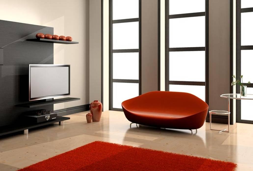 Maison contemporaine: Salon de style de style Moderne par 3d Immobilier
