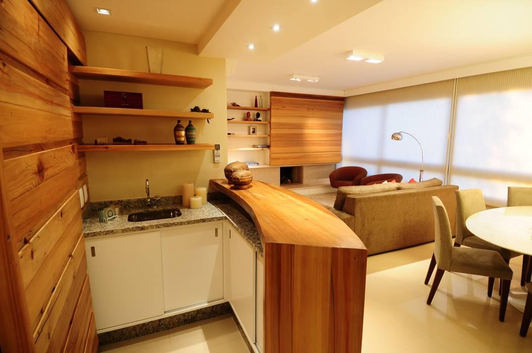 Churrasqueira/Bar João Linck | Arquitetura Salas de estar modernas