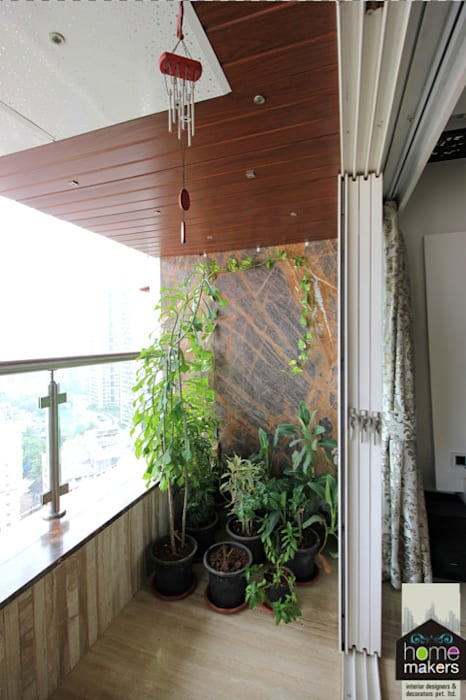 Balcony 1: modern Houses by home makers interior designers & decorators pvt. ltd.