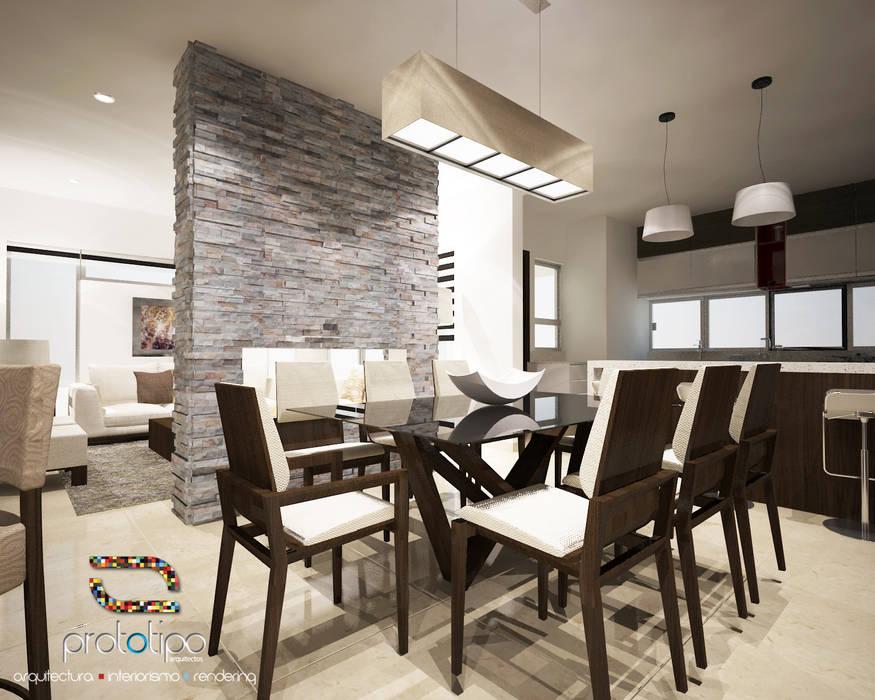 Comedor casa 57 casa fuerte: comedores de estilo por prototipo ...