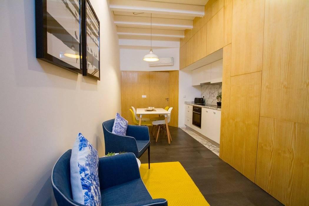 GRAU.ZERO Arquitectura Salones de estilo moderno