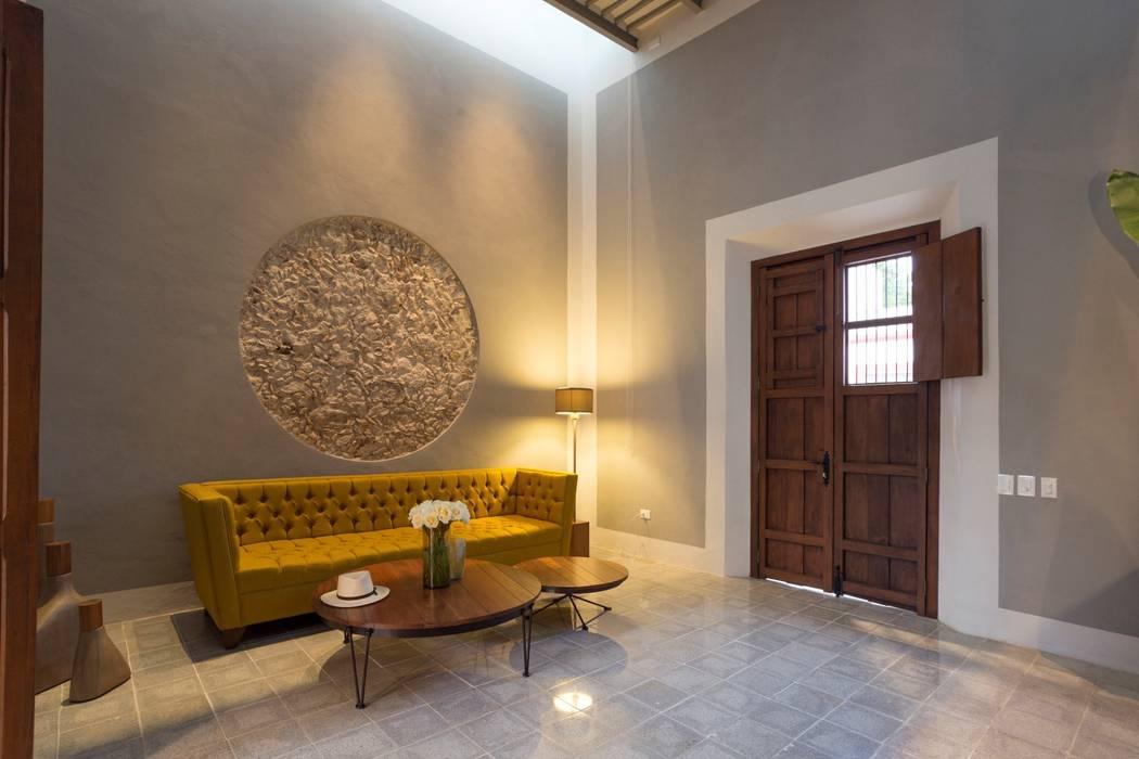 Taller Estilo Arquitectura Soggiorno moderno Cemento Grigio