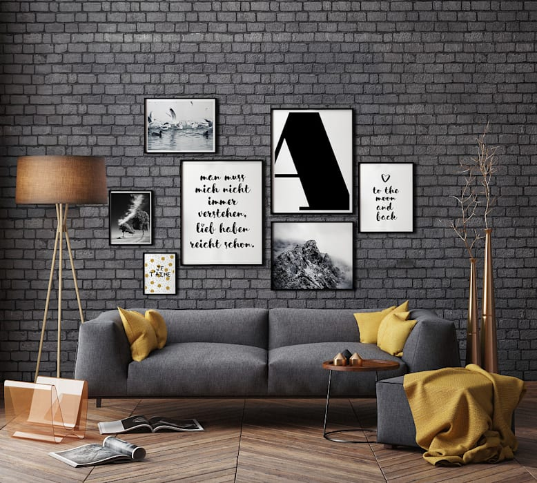 K&L Wall Art Living roomAccessories & decoration Paper White
