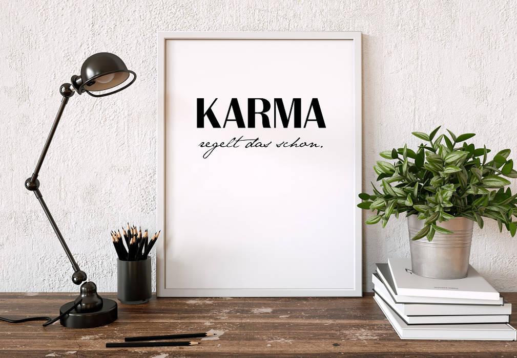 K&L Wall Art SoggiornoAccessori & Decorazioni Carta Bianco