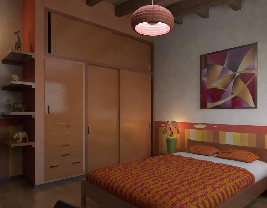 Phòng ngủ phong cách chiết trung bởi Arq. Rodrigo Culebro Sánchez Chiết trung