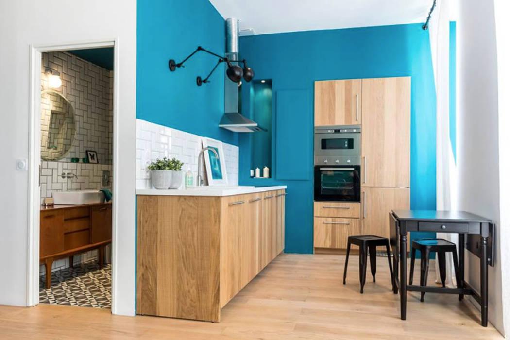 Blue Velvet Cuisine industrielle par Insides Industriel