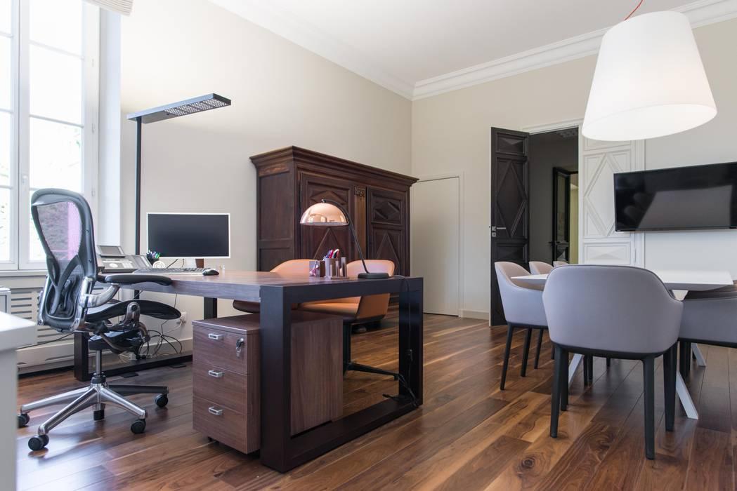 Insides Modern study/office Wood Beige