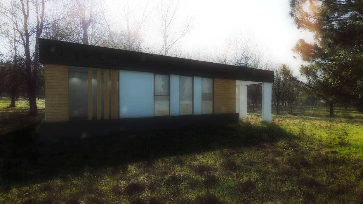 FACHADA / VIVIENDA M / EDICION CAPSULA / TU CASA: Casas de estilo  por VHA Arquitectura