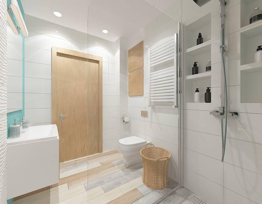 Turkusowa łazienka Styl W Kategorii łazienka