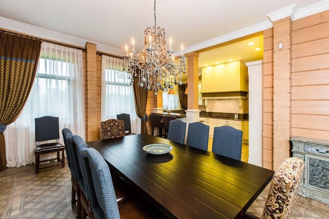 ДОМ GOOD WOOD клееный брус: Столовые комнаты в . Автор – GOOD WOOD, Классический
