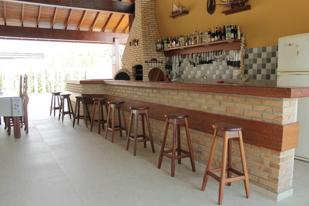 Lozí - Projeto e Obra Balcon, Veranda & Terrasse rustiques
