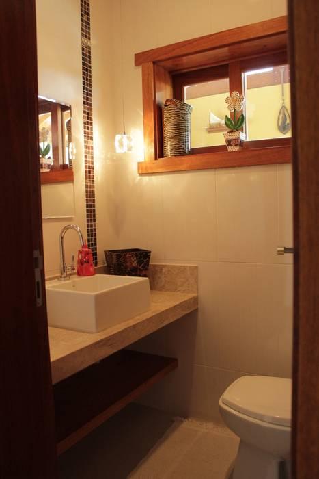 Lozí - Projeto e Obra Rustic style bathroom