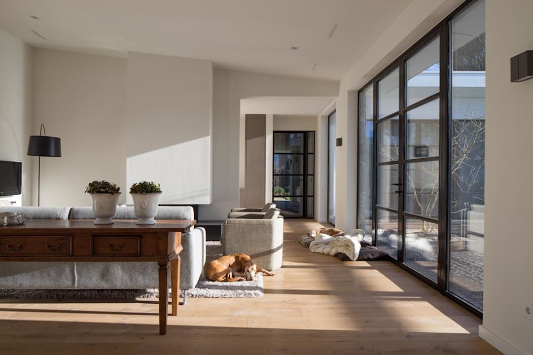 Modern Living Room by Van der Schoot Architecten bv BNA Modern Wood Wood effect