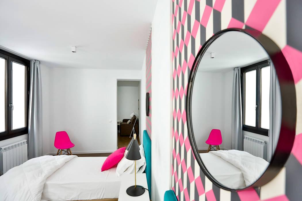 Dormitorio 2 camas Cuartos de estilo moderno de StudioBMK Moderno